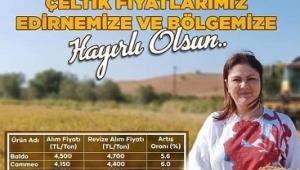 AKP İL BAŞKANI İBA'DAN ÇELTİK ÜRETİCİSİNE MÜJDE